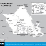Map of O'ahu Golf Courses