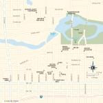 Travel map of Downtown Spokane, Washington