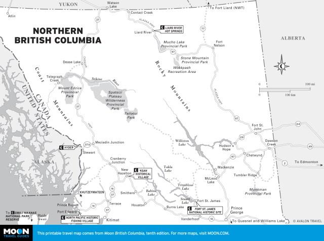 Map of Northern British Columbia