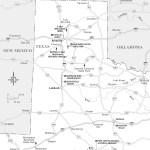 Travel map of the Panhandle Plains of Texas