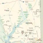 Travel map of The Southeastern Corner of Utah