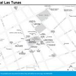 Travel map of Central Las Tunas, Cuba