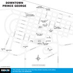 Map of Downtown Prince George, BC