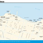 Travel map of Fortaleza, Brazil
