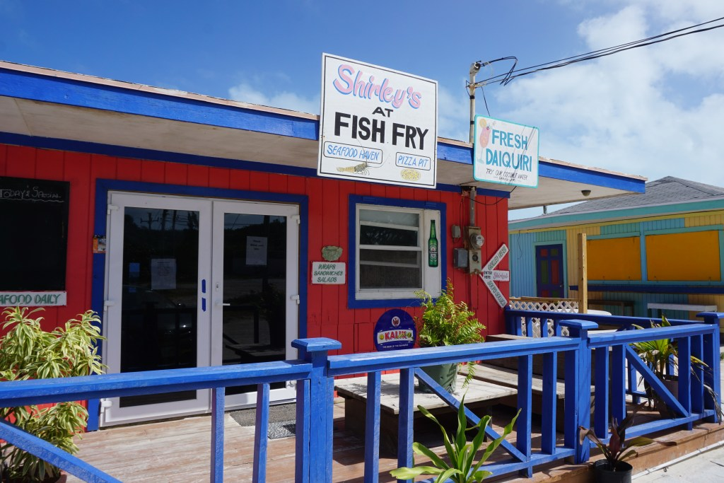 Shirley's Fish fry restaurant in Bahamas