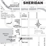 Travel map of Downtown Sheridan, Wyoming