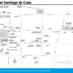 Travel map of Central Santiago de Cuba