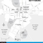 Map of Gettysburg, Pennsylvania
