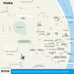 Color travel map of Piura, Peru