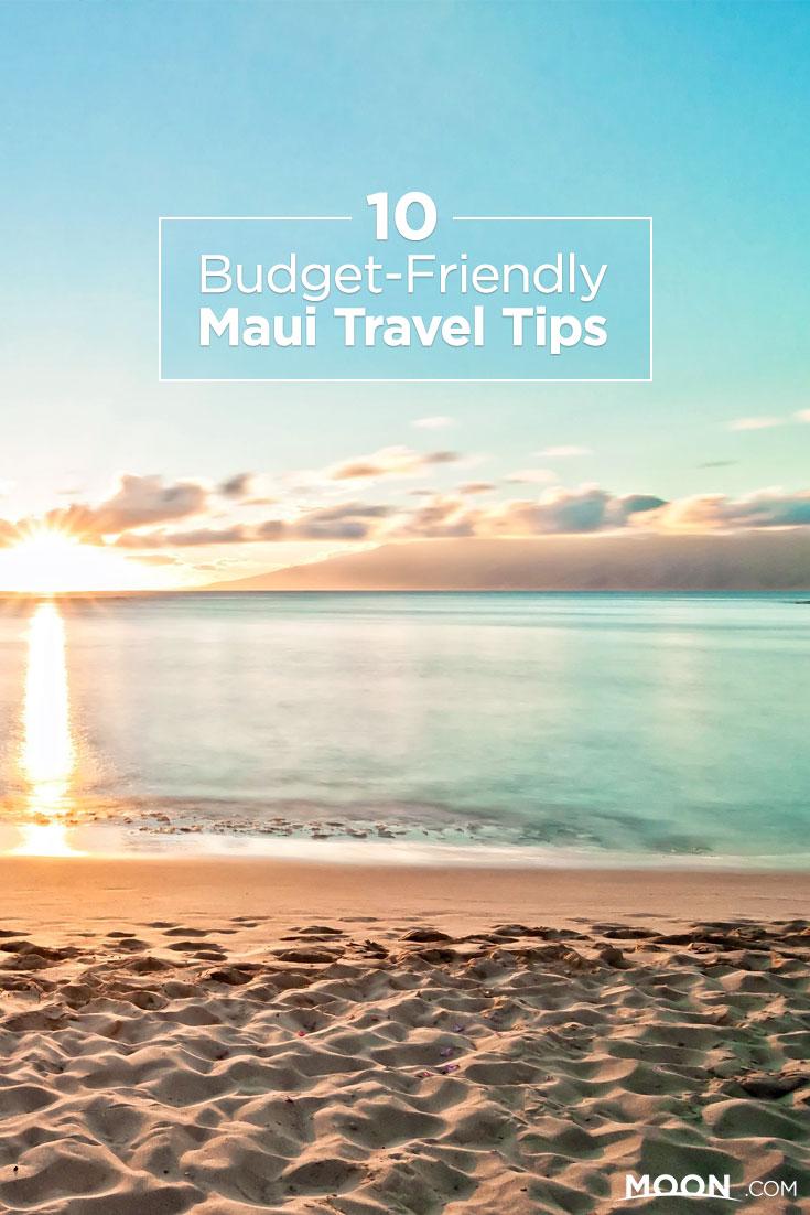 Maui Budget Travel Tips Pinterest graphic
