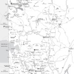 Travel map of Maine's Western Lakes and Mountains