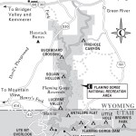 Travel map of Wyoming's Flaming Gorge National Recreation Area