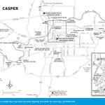 Travel map of Casper, Wyoming