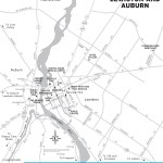 Travel map of Lewiston and Auburn, Maine