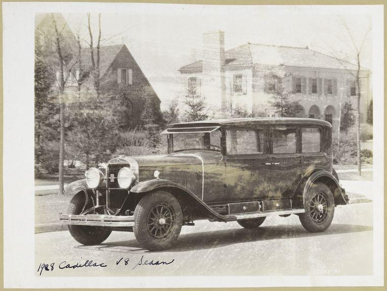 A 1928 Cadillac V8.