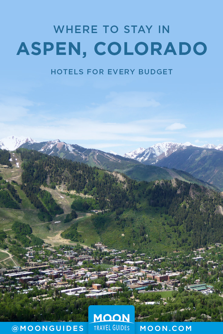 Where to Stay in Aspen Pinterest graphic
