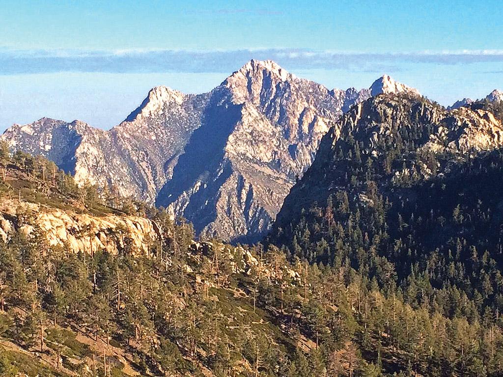 view of San Pedro Martir mountain peaks in Baja