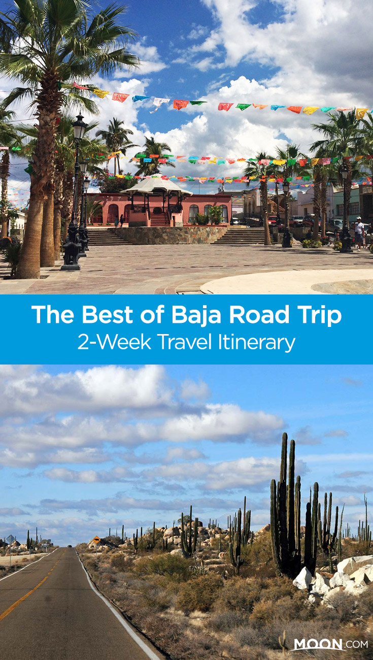 baja road trip pinterest graphic