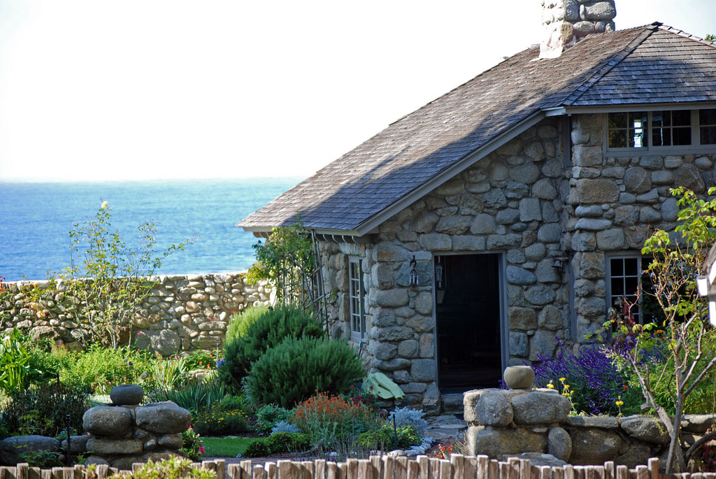 Poet Robinson Jeffers' Tor House and garden in Carmel, California.