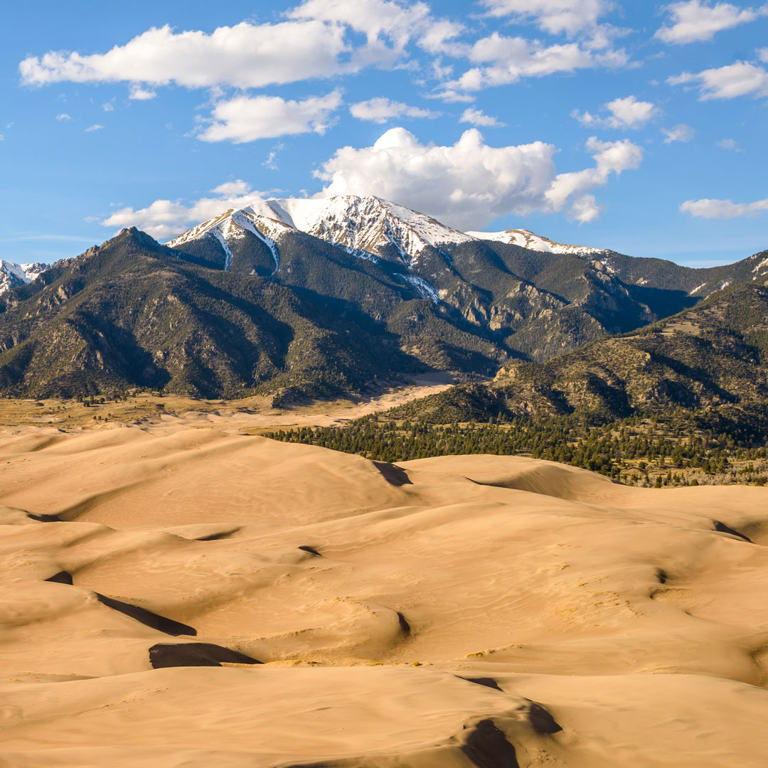 mountains and dunes in Colorado