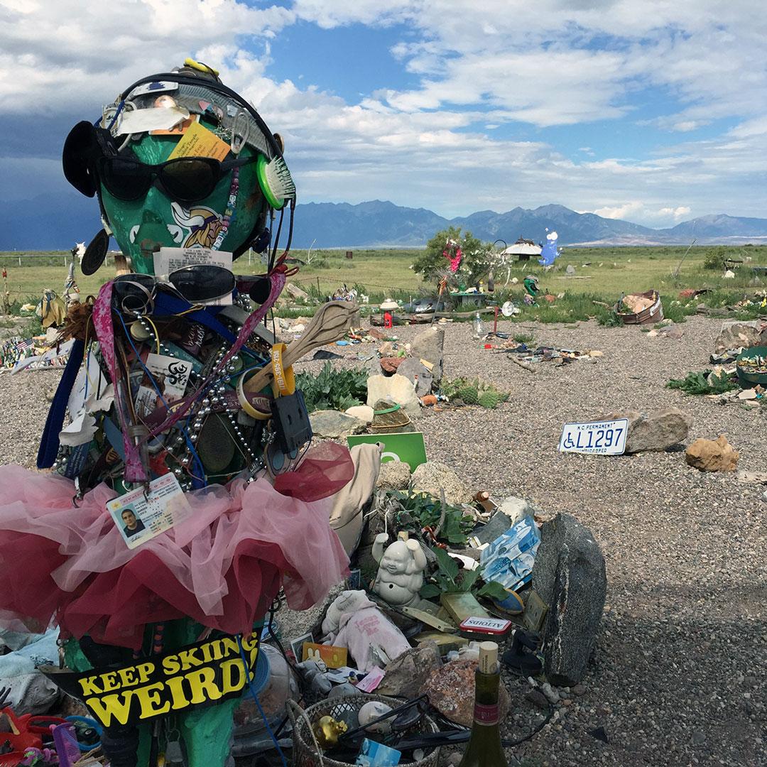oddities at UFO garden in Colorado