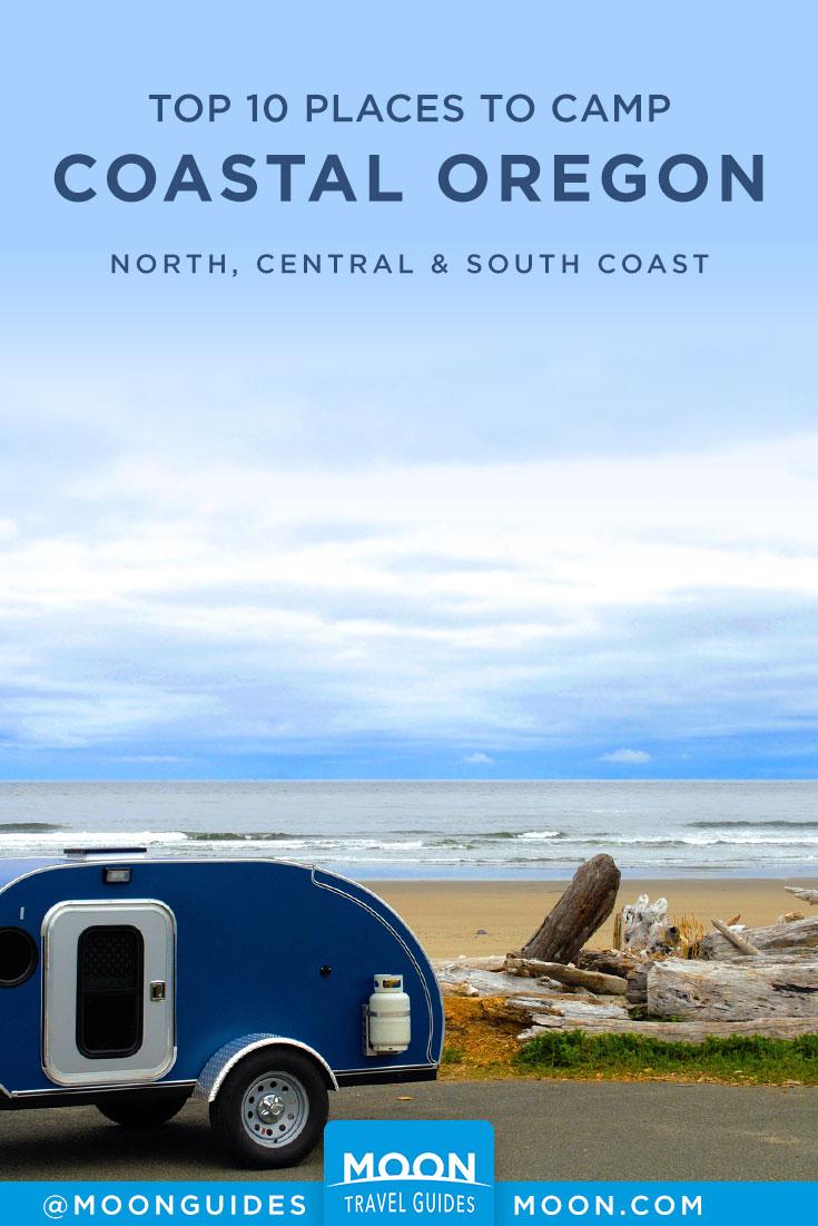 Coastal Oregon Camping Pinterest Graphic