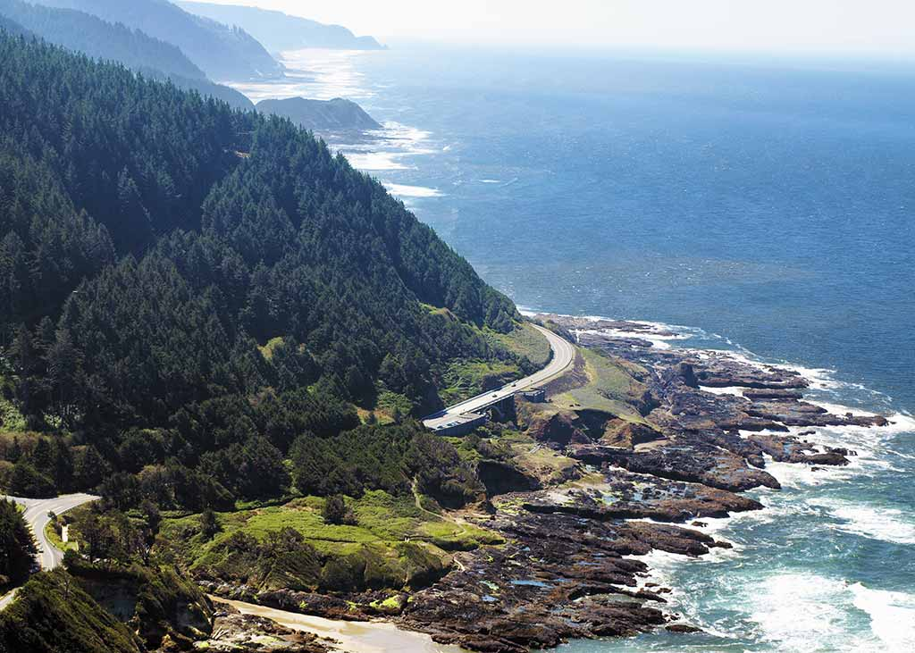 The view from atop Cape Perpetua. Photo © W.C. McRae.