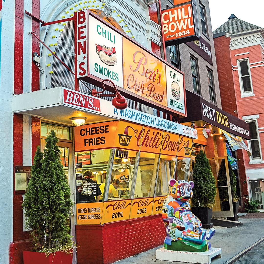storefront of ben's chili bowl in Washington DC