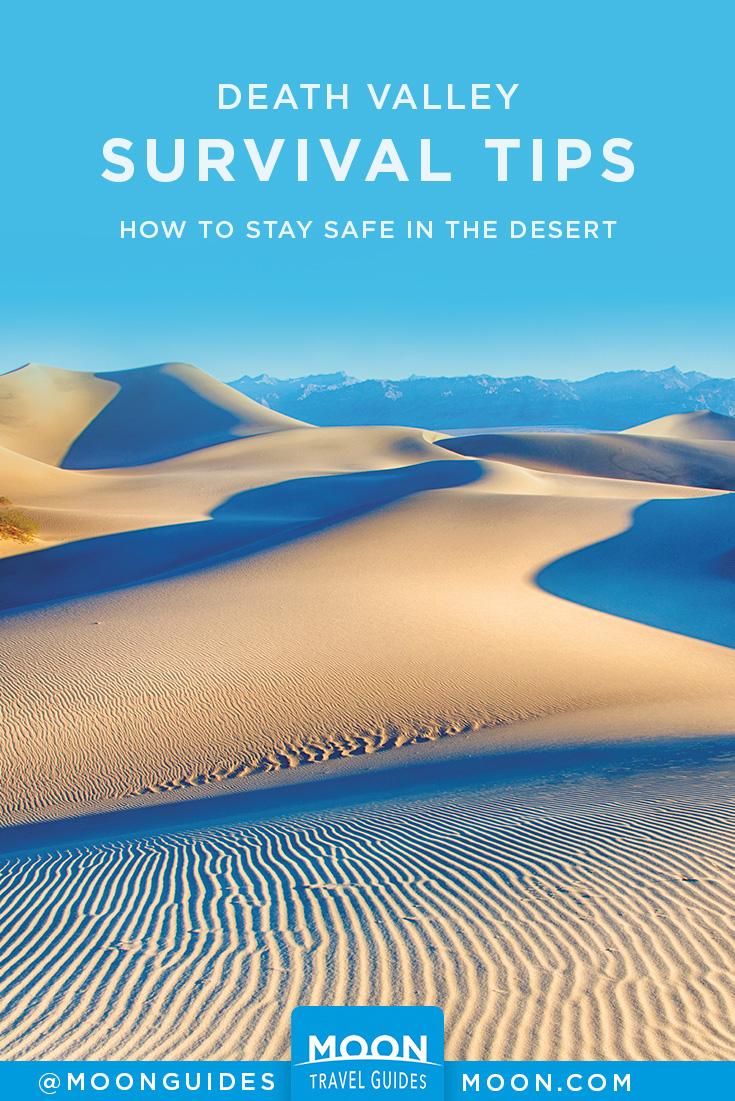Desert Survival Tips Pinterest graphic