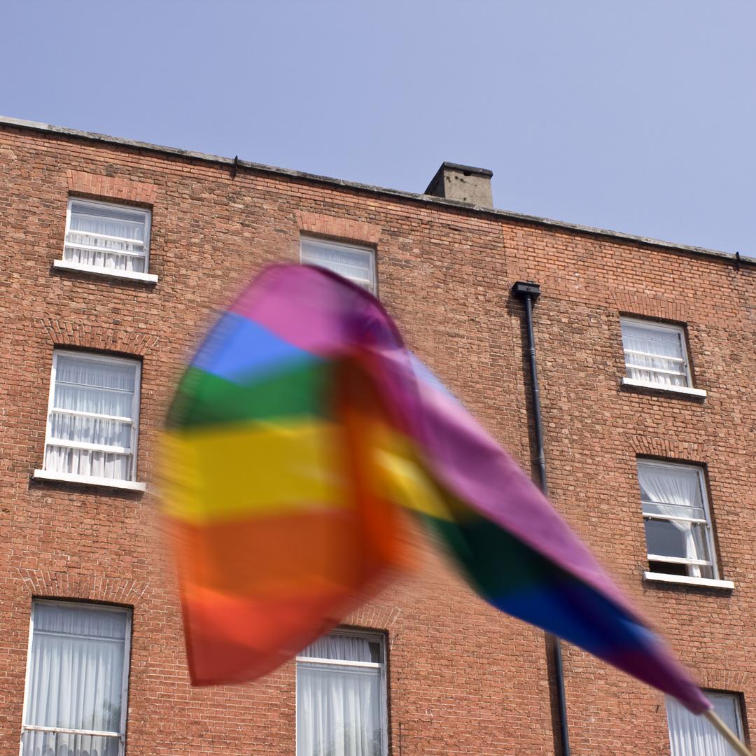 gay pride flag in Dublin