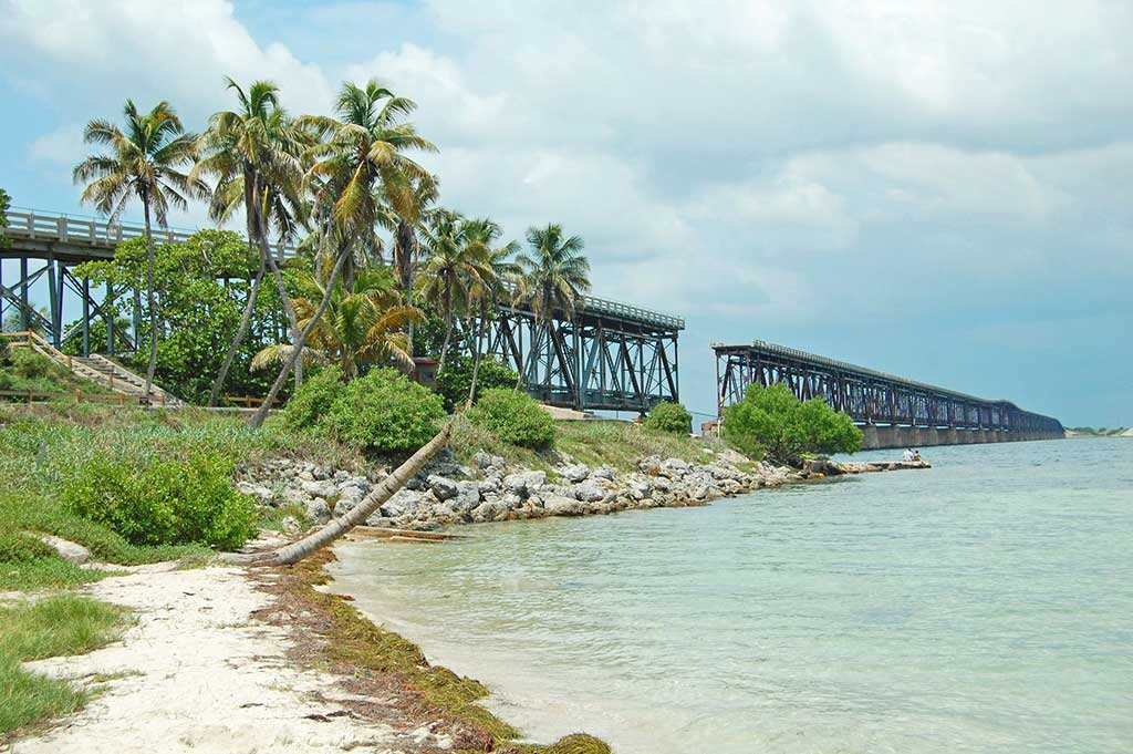 View of the Flagler Railway and Bridge at Bahia Honda State Park.