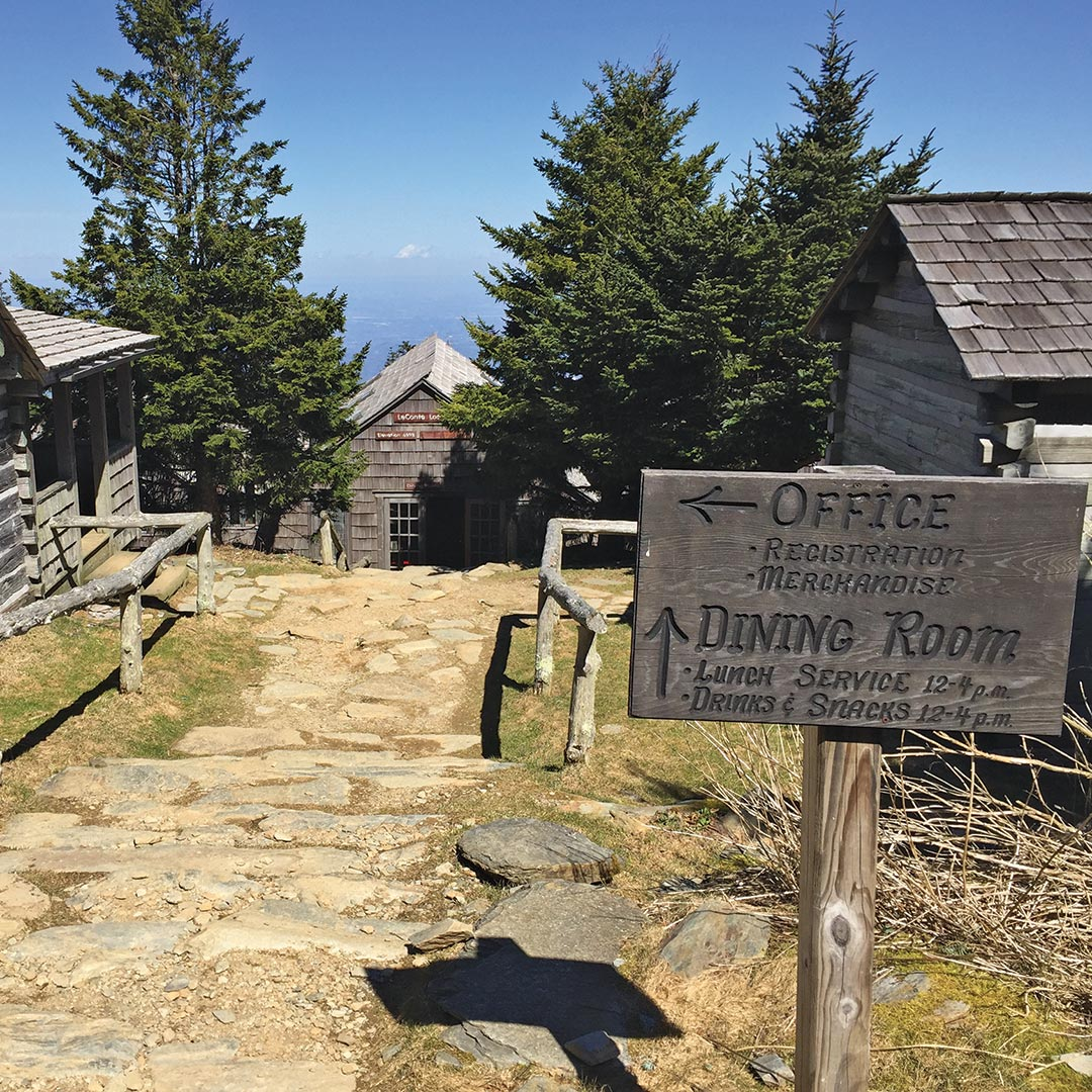 path leading to cabins at LeConte Lodge