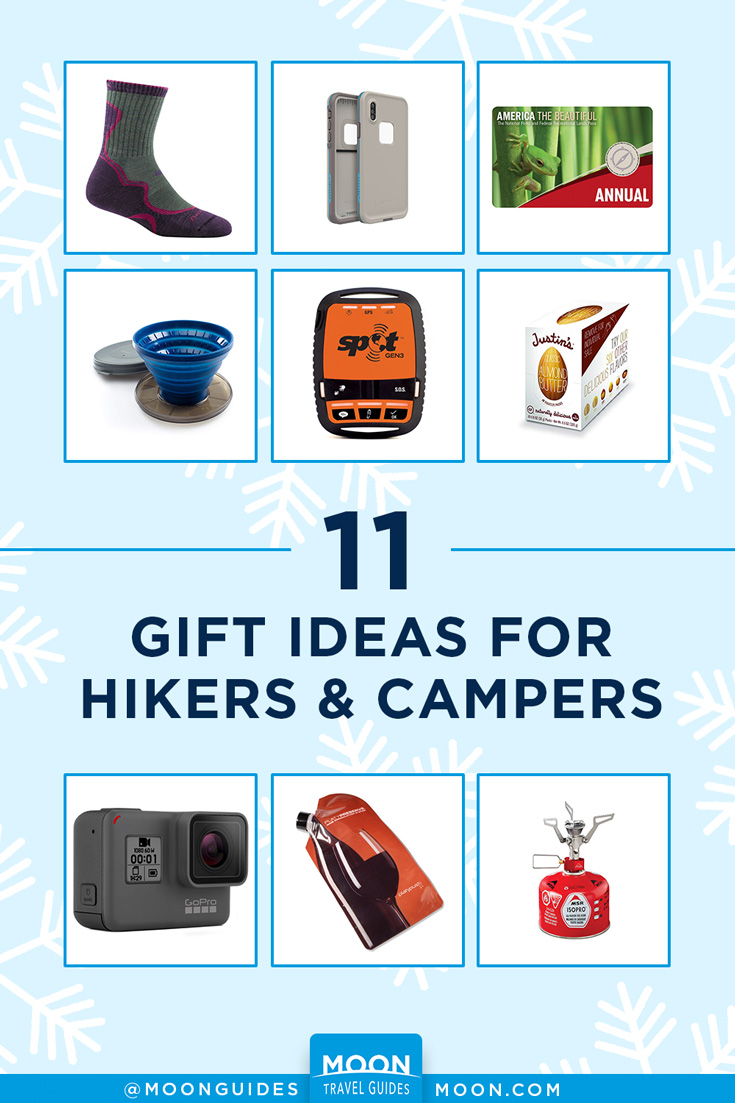 Hiking Camping Gift Guide pinterest graphic
