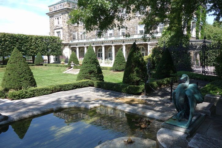Kykuit, the sprawling hilltop estate of the Rockefeller family is a must-see in the Lower Hudson River Valley.