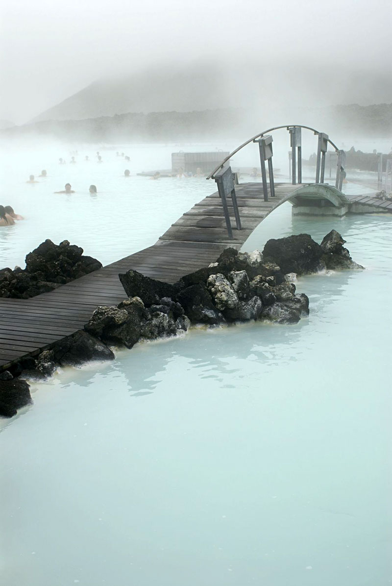 A trip to the Blue Lagoon in the winter is eerie and wonderful.