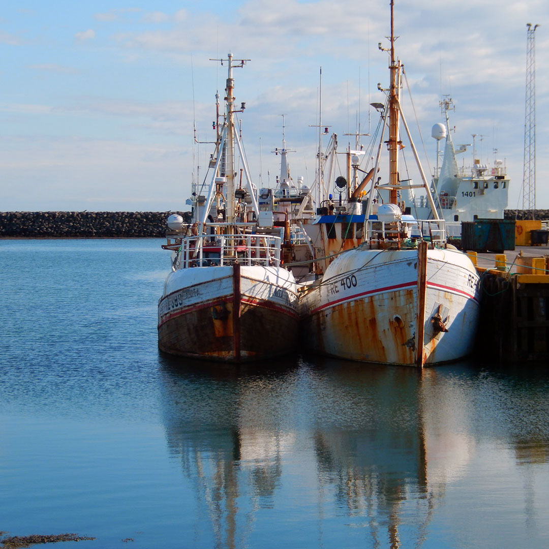Fishing boats in Grindavík Iceland