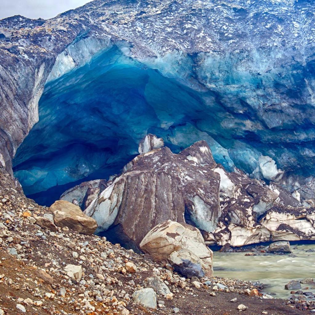 A glacier cave at Kverkfjöll volcano.