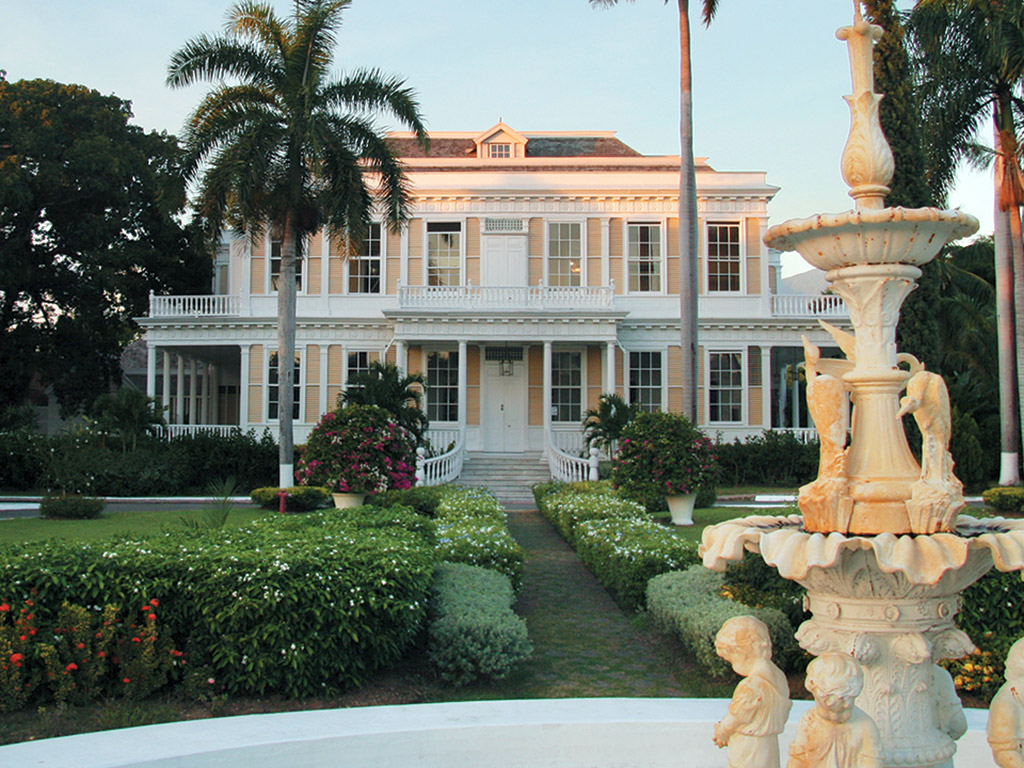 front view of Devon House in Kingston, Jamaica