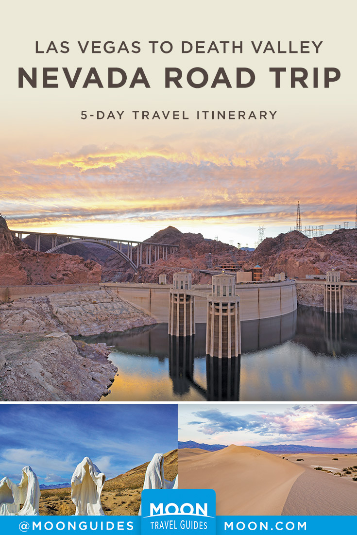 Las Vegas to Death Valley Pinterest graphic
