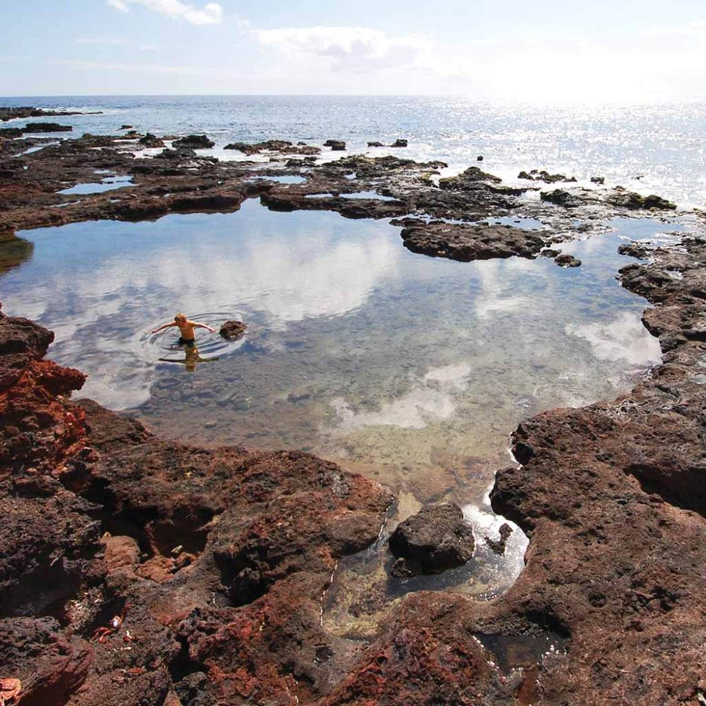 Tide pools at Hulopo'e Beach Park
