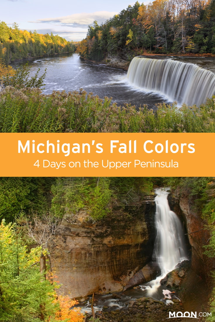 Michigan Fall Color Tour: Enjoy Michigan fall colors on the Upper Peninsula with a four-day itinerary that includes waterfalls and the crystal blue water of Lake Michigan.