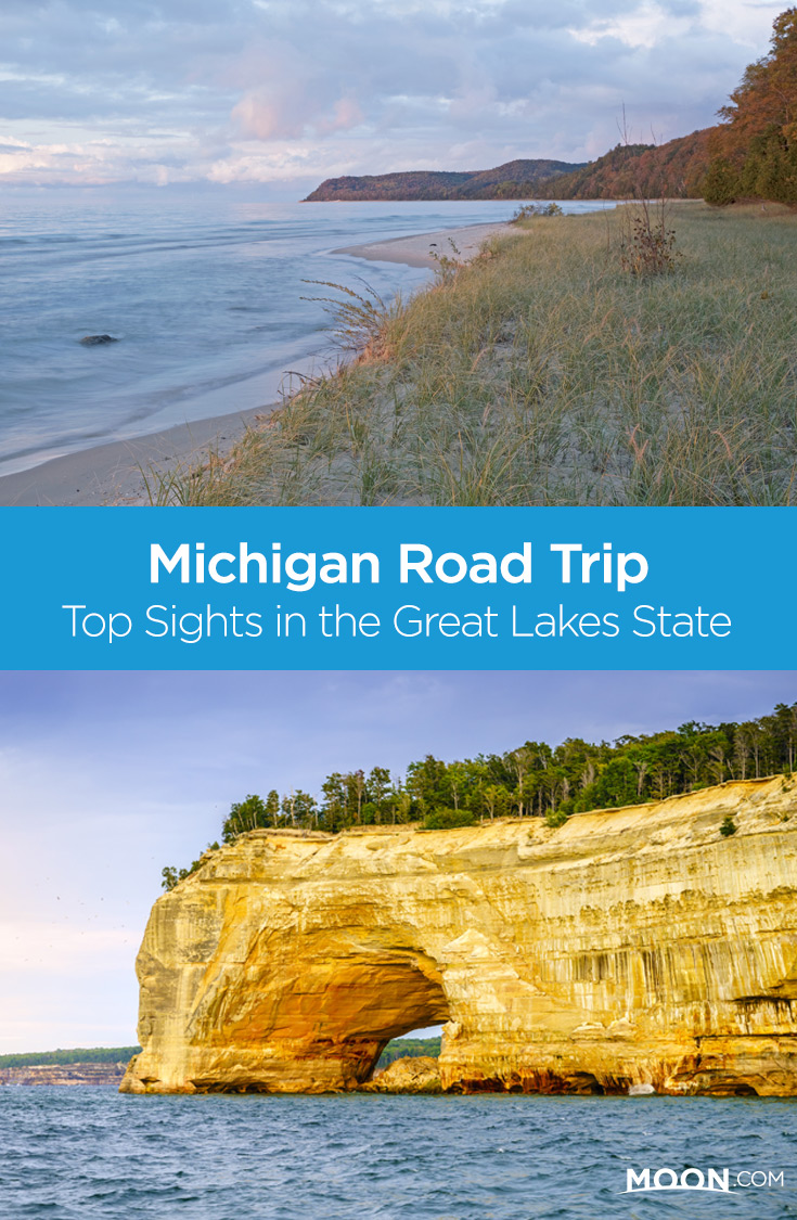 michigan road trip pinterest graphic
