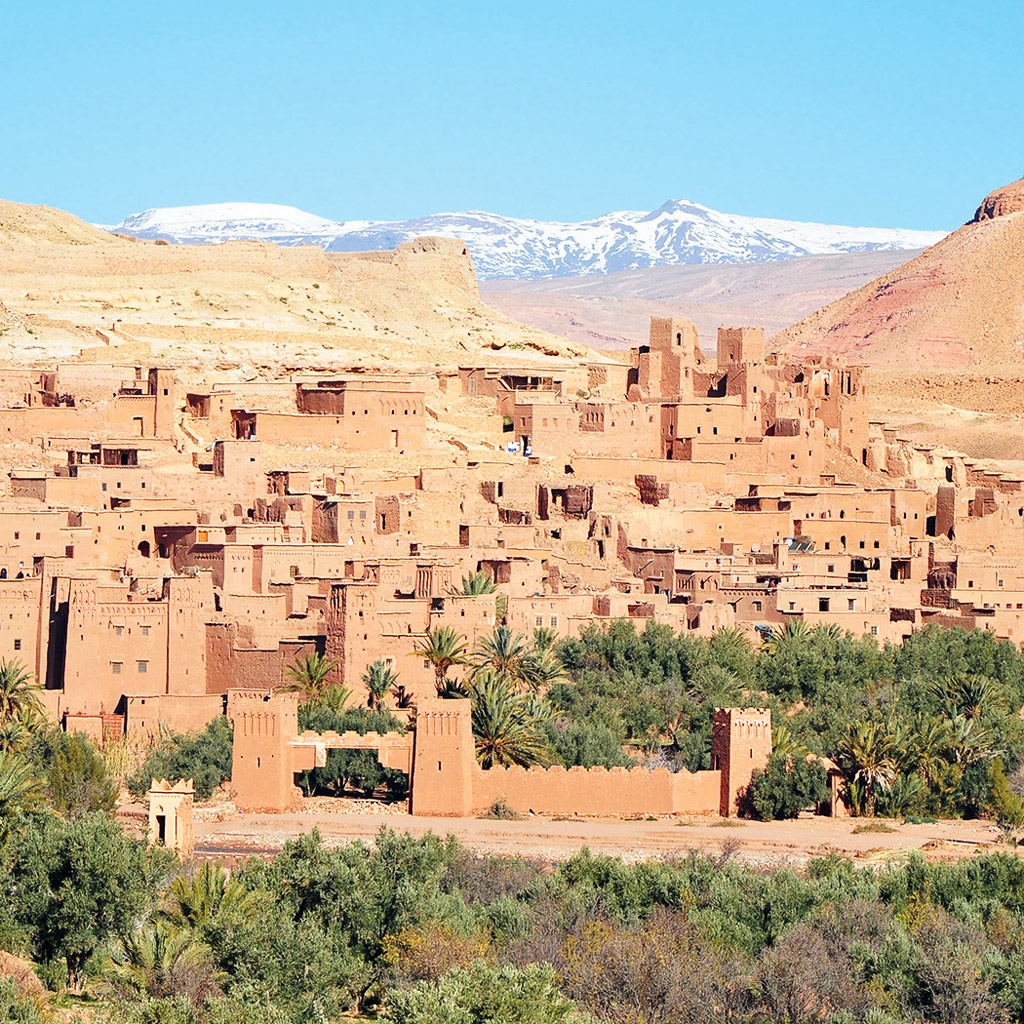 aerial view of ait ben haddou in Ouazazate, Morocco