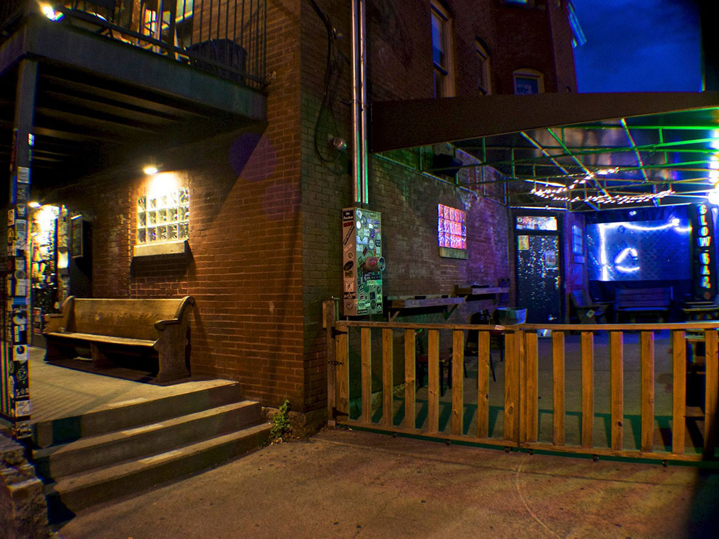 exterior view of the live music venue The Basement in Nashville