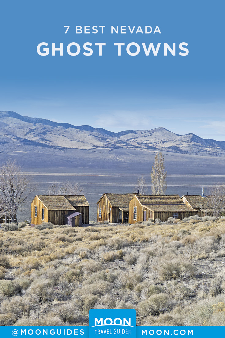Nevada Ghost Towns Pinterest graphic