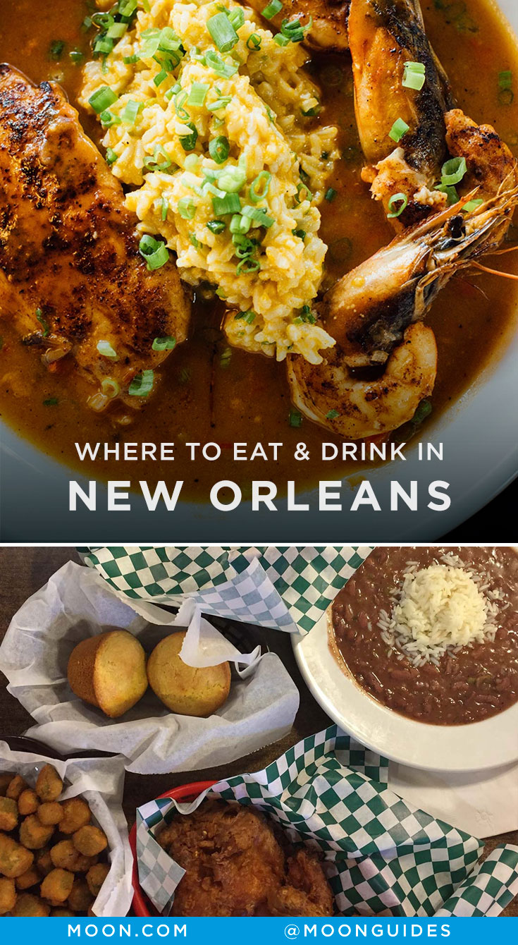 New Orleans restaurants Pinterest graphic