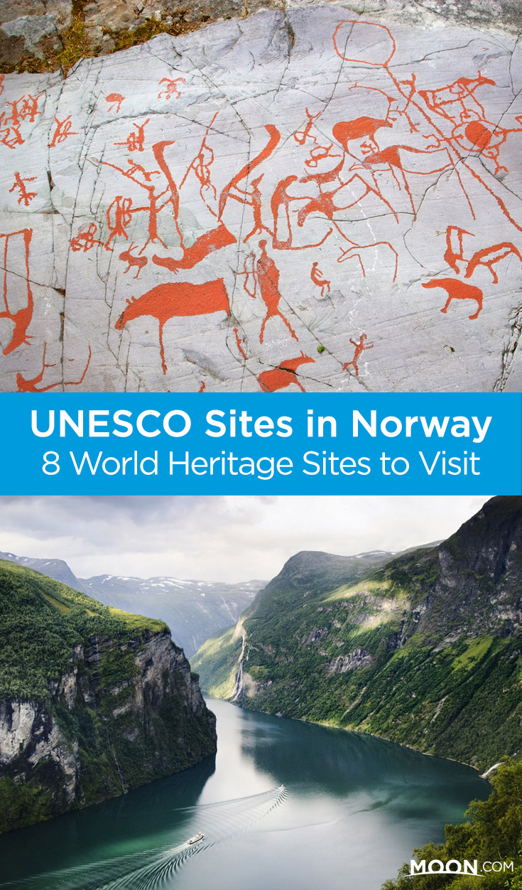 Norway's World Heritage Sites are a diverse mix of world-famous sights such as the Geirangerfjord and little-known gems including the town of Røros. Here's what you  need to know to visit all 8 UNESCO sites on your Scandinavian vacation.