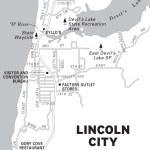 Map of Lincoln City, Oregon