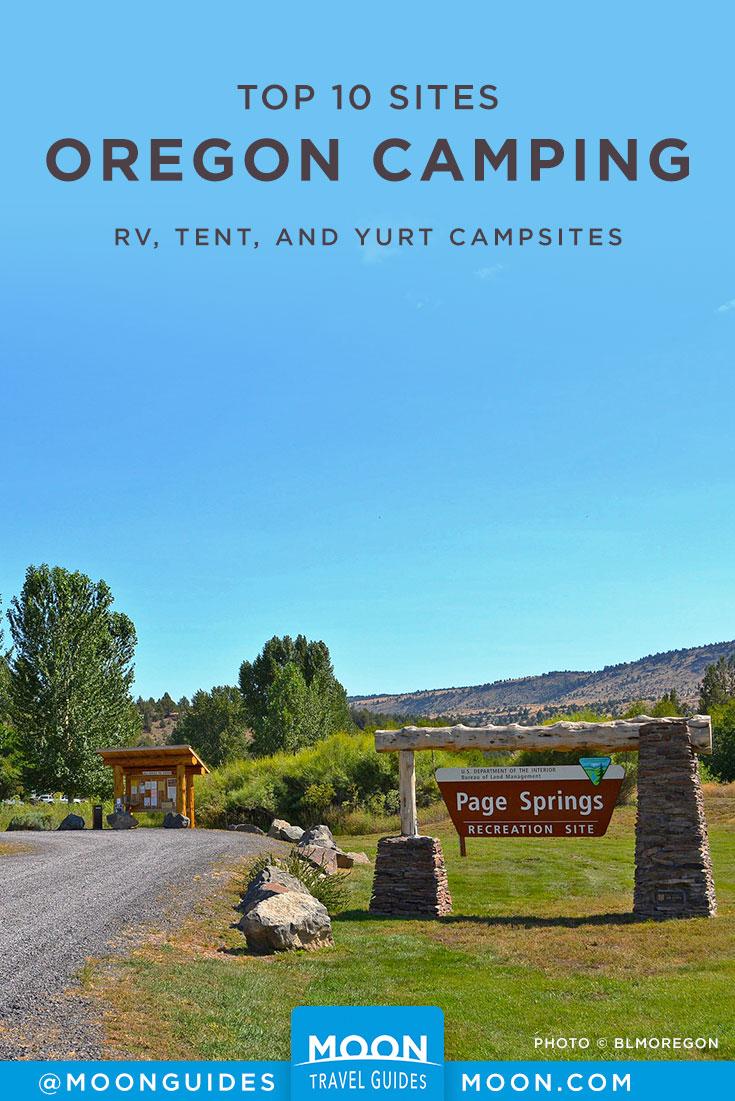 Oregon Campsites Pinterest Graphics