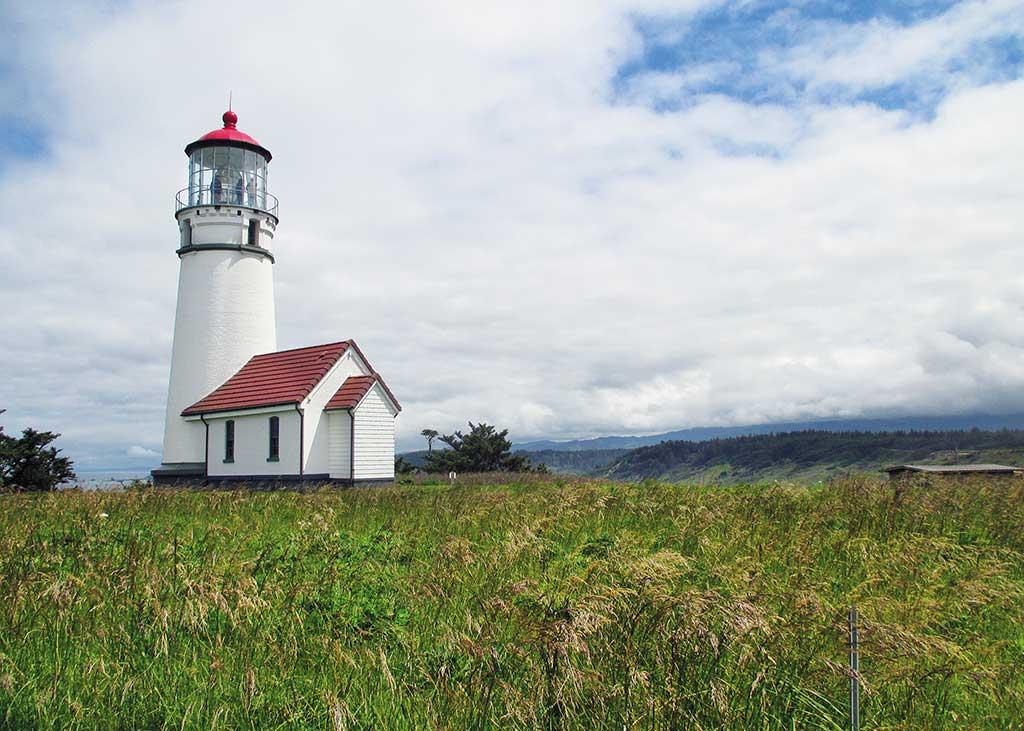 The lighthouse near Cape Blanco